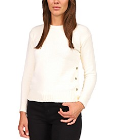 Button-Detail Sweater, Regular & Petite