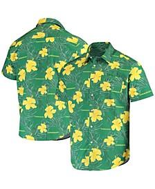 Men's Green Oregon Ducks Floral Button-Up Shirt