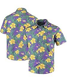 Men's Purple LSU Tigers Floral Button-Up Shirt