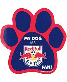 Red New York Red Bulls Paw Car Magnet