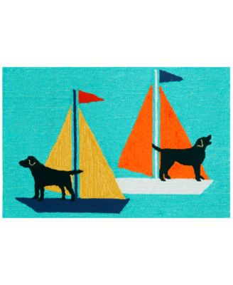 Liora Manne Front Porch Indoor/Outdoor Sailing Dogs 2' x 3' Area Rug