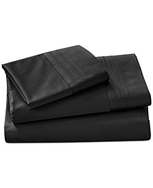 CLOSEOUT! Donna Karan  Home Ebony Queen Fitted Sheet