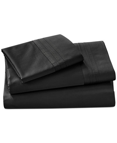 CLOSEOUT! Donna Karan Home Ebony King/California King Flat Sheet