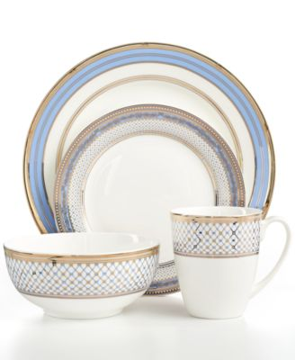 Gorham Dinnerware Chancellor Blue Collection  sc 1 st  Macy\u0027s : gorham dinnerware - pezcame.com