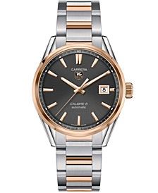 Men's Swiss Automatic Carrera Calibre 5 18k Rose Gold and Stainless Steel Bracelet Watch 39mm