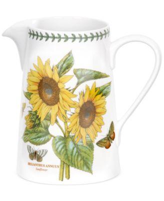 Dinnerware Botanic Garden Sunflower Bella Jug