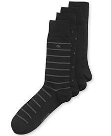 4-Pack Patterned Dress Socks