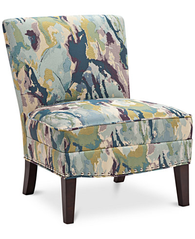 Coryn Fabric Accent Chair, Quick Ship - Furniture - Macy\'s