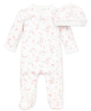 Little Me Baby Coverall Baby Girls Coverall with Matching Hat