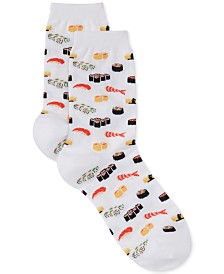 Hot Sox Women's Sushi Print Fashion Crew Socks
