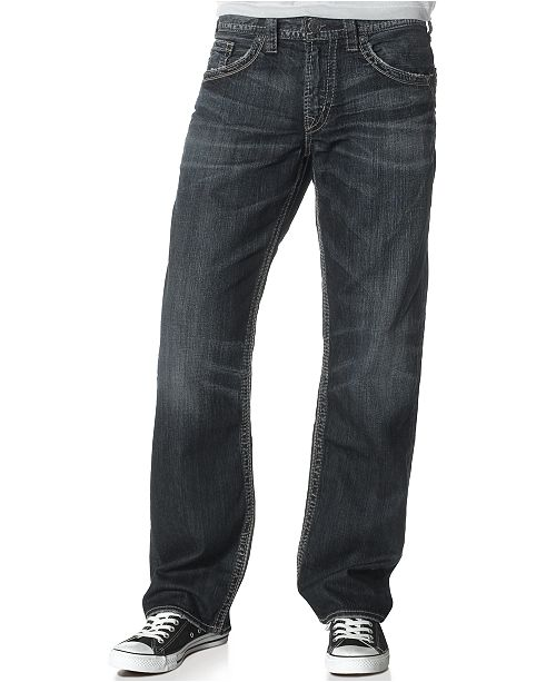 ee1b7456 Men's Gordie Loose Fit Straight Jeans; Silver Jeans Co. Men's Gordie Loose  Fit Straight ...