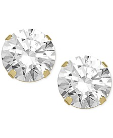 Swarovski Zirconia Round Stud Earrings in 14k Gold (2 ct. t.w.)