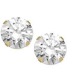 Swarovski Zirconia Round Stud Earrings in 14k Gold (2 ct. t.w.)