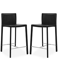 "Alec 24"" Bar Stools (Set of 2), Quick  Ship"