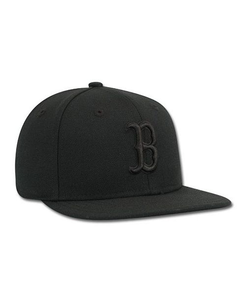 547535324 New Era Kids' Boston Red Sox Black on Black Fashion 59FIFTY Cap ...