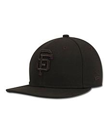Kids' San Francisco Giants MLB Black on Black Fashion 59FIFTY Cap