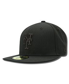 New Era Kids' New York Mets MLB Black on Black Fashion 59FIFTY Cap
