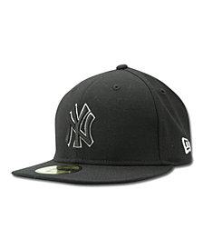 New Era Kids' New York Yankees MLB Black and White Fashion 59FIFTY Cap