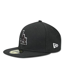 Kids' Los Angeles Dodgers MLB Black and White Fashion 59FIFTY Cap
