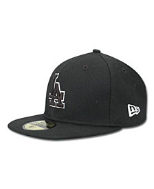 New Era Kids' Los Angeles Dodgers MLB Black and White Fashion 59FIFTY Cap