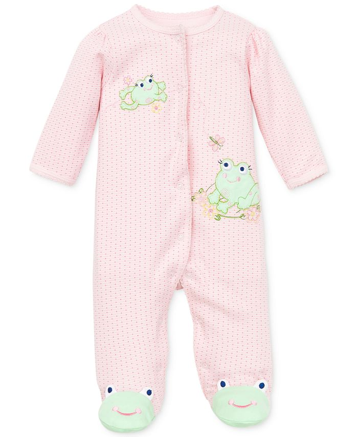Little Me - Baby Coverall, Baby Girls Coverall with Animal Footies