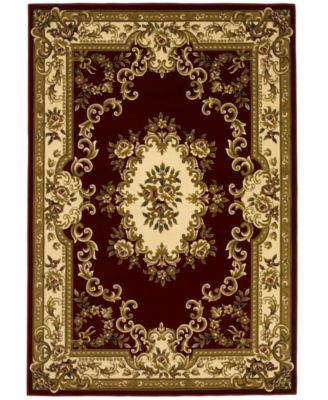 "CLOSEOUT! Corinthian 5308 Red/Ivory Aubusson 7'7"" x 10'10"" Area Rug"