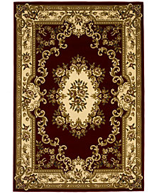 "CLOSEOUT! Kas Corinthian 5308 Red/Ivory Aubusson 3'3"" x 4'11"" Area Rug"