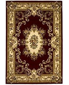 CLOSEOUT! Kas Corinthian 5308 Red/Ivory Aubusson Area Rugs