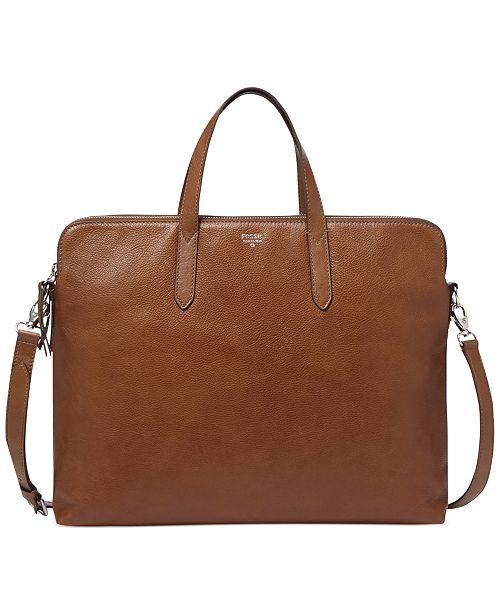 45fbd41520 Fossil Sydney Leather Work Bag   Reviews - Handbags ...