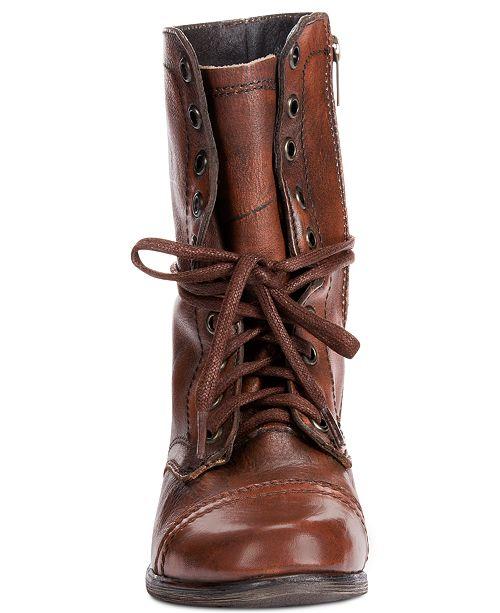 6f94f5e20bd Steve Madden Women s Troopa Combat Boots   Reviews - Boots - Shoes ...