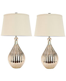 Safavieh Set of 2 Elli Champagne Gourd Lamps