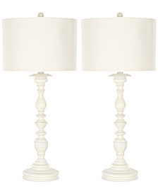 Set of 2 Mamie Cream Candlestick Lamps