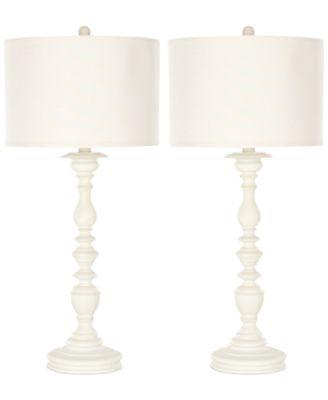 Safavieh Set Of 2 Mamie Cream Candlestick Lamps