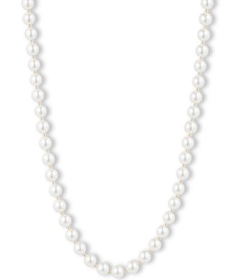 Image of Anne Klein Blanc Imitation Pearl Collar Necklace