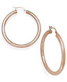 Diamond Accent Hoop Earrings in 14k Rose Gold over Resin, Created for Macy's