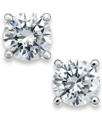 Certified Diamond Stud Earrings in 18k White Gold (1/2 ct. t.w.), Created for Macy's