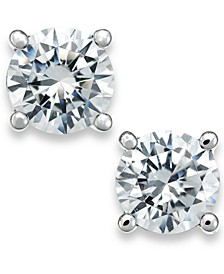 Certified Diamond Stud Earrings in 18k White Gold (1/2 ct. t.w.), Created for Macy's