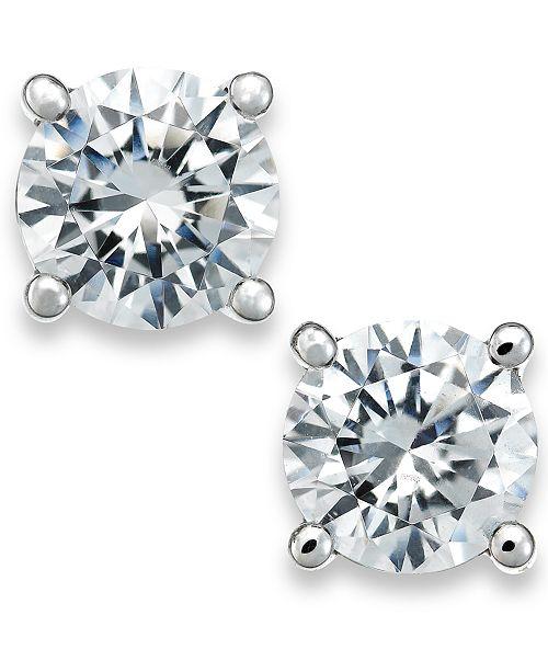 33ca5ed08b4 t.w.  X3 Certified Diamond Stud Earrings in 18k White Gold (1 2 ct. t.w. ...