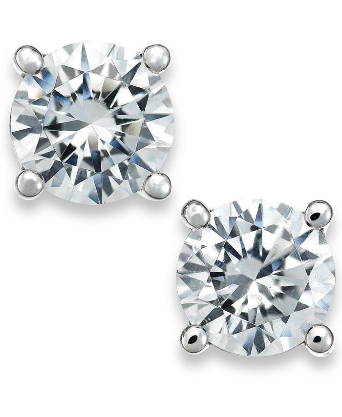 X3 - Certified Diamond Stud Earrings in 18k White Gold (1/2 ct. t.w.)