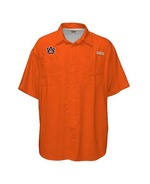 Columbia Men's Auburn Tigers Tamiami Omni-Shade Shirt