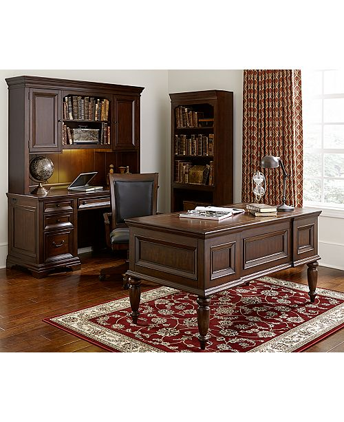 Furniture Cambridge Home Office 3 Piece Set Executive Desk Credenza And Hutch Macy S