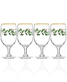 Holiday Goblet Glass, Set of 4