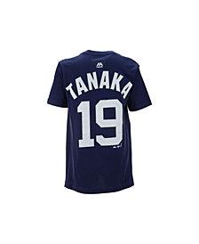Majestic Masahiro Tanaka New York Yankees Official Player T-Shirt, Big Boys (8-20)