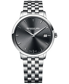 RAYMOND WEIL Men's Swiss Toccata Stainless Steel Bracelet Watch 42mm 5588-ST-60001