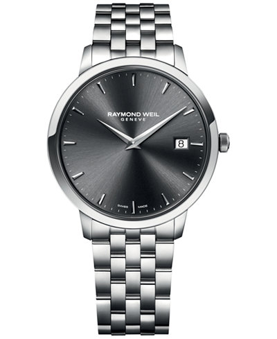 RAYMOND WEIL Men's Swiss Toccata Stainless Steel Bracelet Watch 42mm 5588-ST-60001