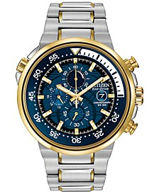 Men's Chronograph Endeavor Eco-Drive Two-Tone Stainless Steel Bracelet Watch 46mm CA0444-50L