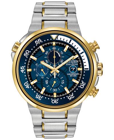 Citizen Men's Chronograph Endeavor Eco-Drive Two-Tone Stainless Steel Bracelet Watch 46mm CA0444-50L