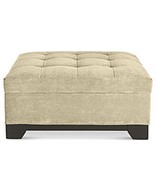 Elliot Fabric Microfiber Storage Ottoman - Custom Colors, Created for Macy's
