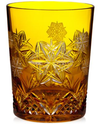 Snowflake Wishes Peace Prestige Double Old Fashioned Glass