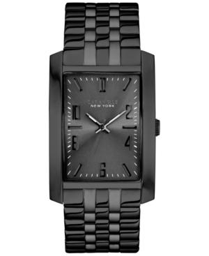 Caravelle by Bulova Men's Black-Tone Stainless Steel Bracelet Watch 44x30m 45A117